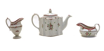 Lot 62 - A Newhall teapot and cover