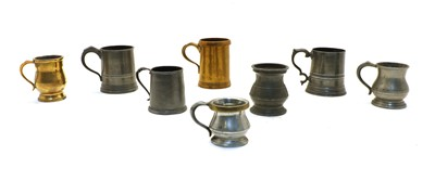 Lot 78 - Over forty 19th and 20th century pewter pub measures