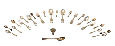 Lot 30 - Mixed silver cutlery