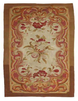 Lot 485 - A French Aubusson flatweave rug