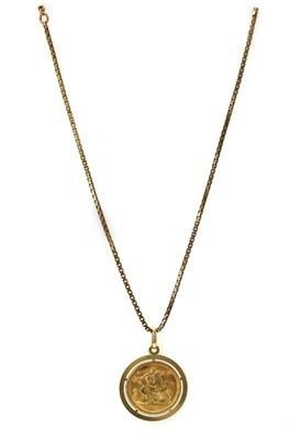Lot 1090 - An Elizabeth II sovereign pendant