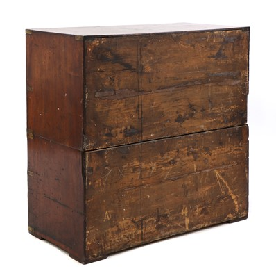 Lot 82 - A Victorian mahogany campaign chest