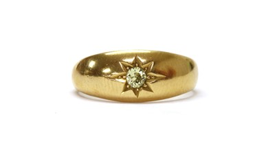 Lot 1030 - An 18ct gold single stone diamond ring