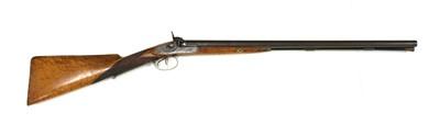Lot 734 - A 12-bore double-barrelled percussion shotgun
