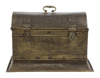 Lot 114 - An Indo-Persian brass trunk