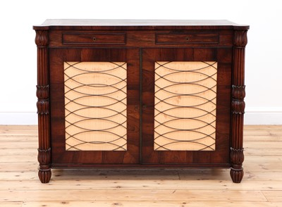Lot 122 - A George IV rosewood collector's cabinet in the manner of Gillow