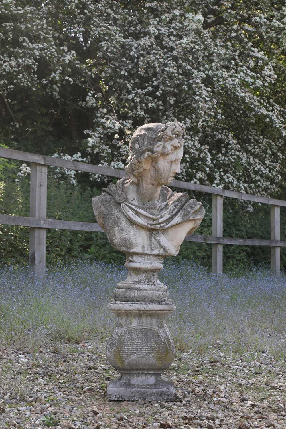 Lot 69 - A composite stone bust after the antique