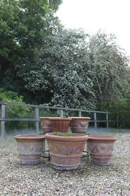 Lot 68 - A collection of terracotta garden pots