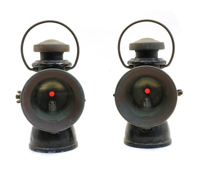 Lot 56 - A pair of Lucas no. 723 'King of the Road' car lamps