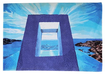 Lot 475 - A Surrealist carpet or wall hanging