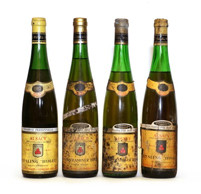 Lot 31 - Assorted wines by Hugel; Riesling, Vendange Tardive, Alsace, 1976, one bottle and 3 various others