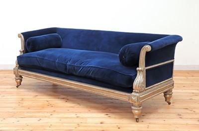 Lot 468 - A modern Regency-style sofa