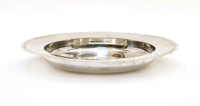 Lot 20 - A modern silver Armada dish
