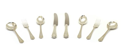 Lot 39 - A modern canteen of Jesmond pattern silver flatware for eight place settings