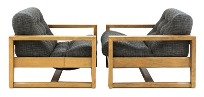 Lot A pair of oak 'Beaufort' armchairs