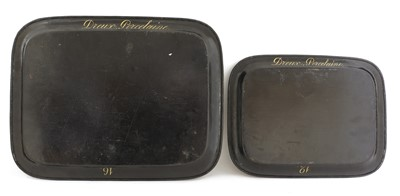 Lot 48 - Two graduated Royal French Louis Philippe toleware trays