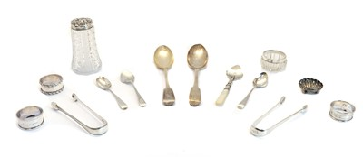 Lot 38 - A collection of silver items