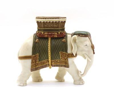Lot 98 - A Hadley's Worcester porcelain Elephant