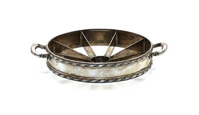 Lot 47 - An Austrian silver two handled Pineapple cutter