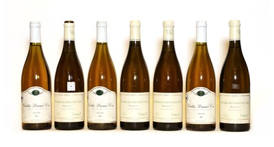 Lot 44 - Assorted Chablis: Domaine Besson, 2002, three bottles and Bougros, Verget, 1997, four bottles