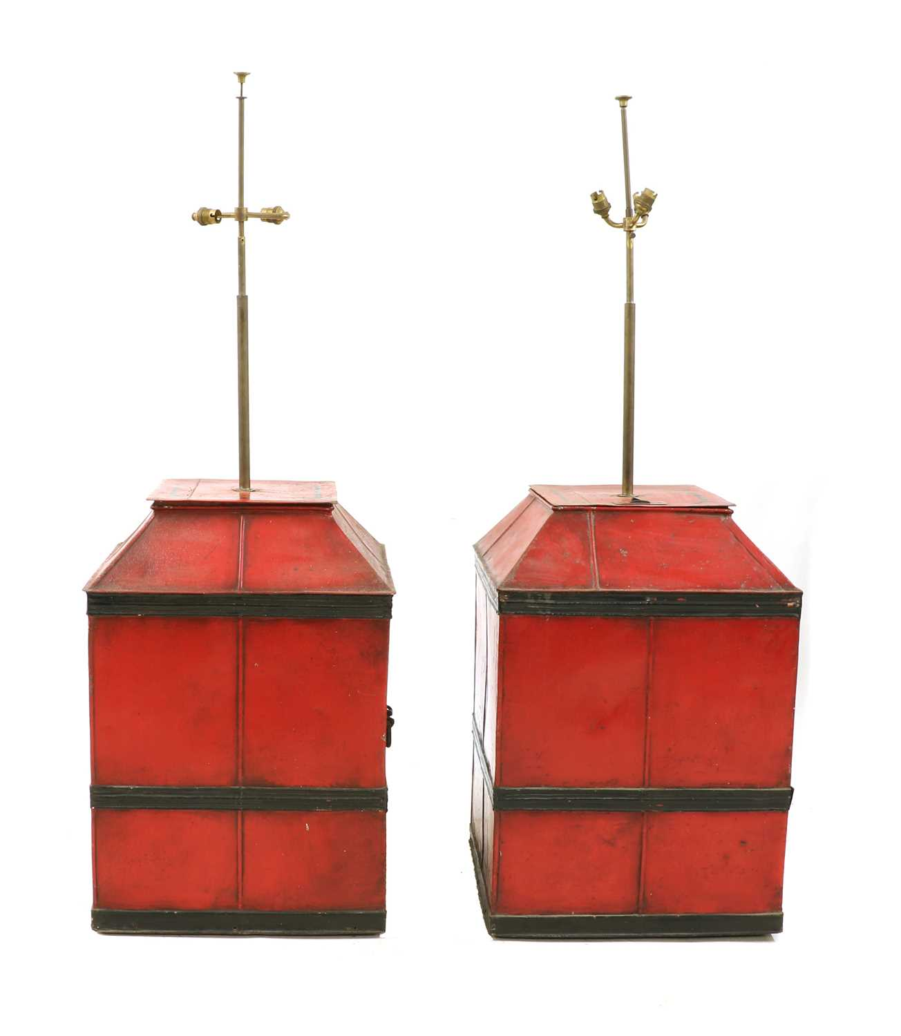 Lot 89 - Two painted tin containers