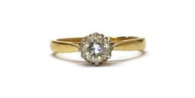 Lot 21 - An 18ct gold single stone diamond ring