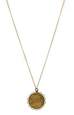 Lot 1087 - A Victoria sovereign pendant