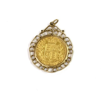 Lot 1086 - A Victoria sovereign pendant