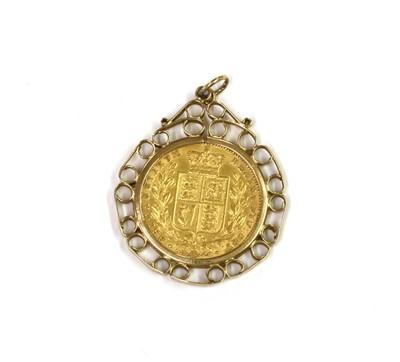 Lot 82 - A Victoria sovereign pendant