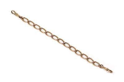 Lot 1107 - A 9ct gold open curb link bracelet