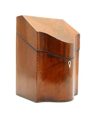 Lot 2 - A George III mahogany knife box