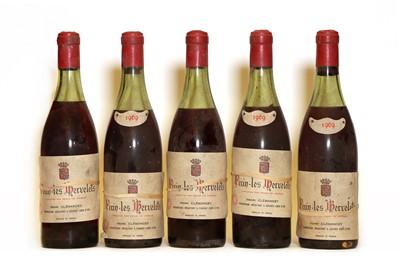 Lot 74 - Fixin, 1er Cru, Les Hervelets, Henri Clemancey, 1969, five bottles