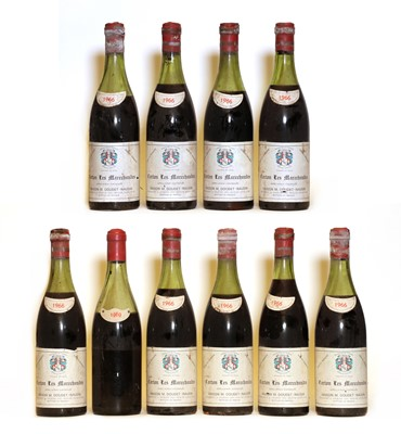 Lot 77 - Corton, 1er Cru, Les Marechaudes, Domaine Doudet Naudin, 1966, ten bottles