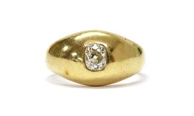 Lot 1017 - A late Victorian gold single stone diamond ring
