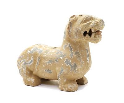 Lot 95 - A Chinese pottery figure