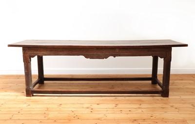 Lot 411 - An oak refectory table