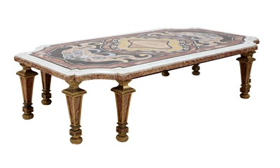 Lot 472 - An Italian specimen marble low table