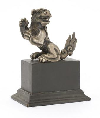 Lot 113 - A Chinese paktong Buddhist lion