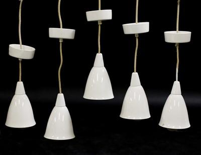 Lot 535 - Five model '193N' BTC hanging pendant lights