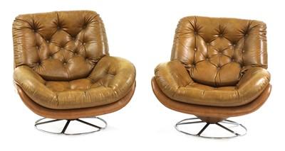 Lot 543 - A pair of Scandinavian armchairs