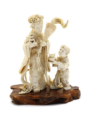 Lot 90 - A Japanese ivory carving