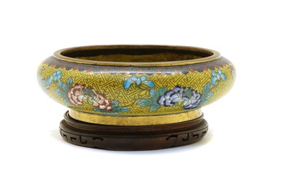 Lot 111 - A Chinese cloisonné brush washer