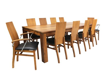 Lot A Danish contemporary Naver Collection cherrywood dining table