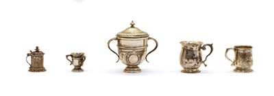 Lot 32 - A collection of miniature silver items