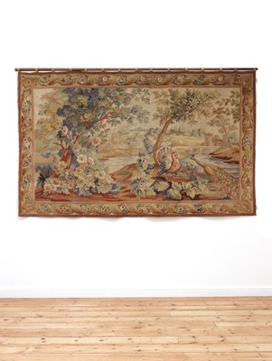 Lot 421 - A French Aubusson tapestry