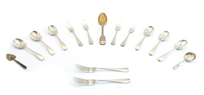 Lot 47 - A collection of silver flatware