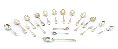 Lot 46 - A collection of Georgian and later silver flatware