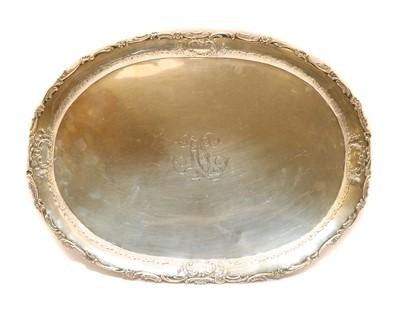 Lot 27A - A German white metal oval tray