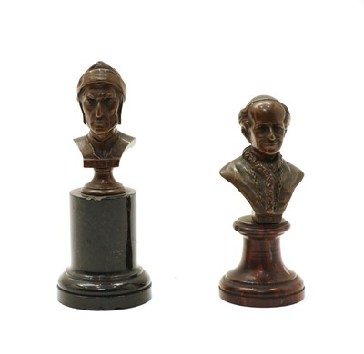 Lot 70 - Two bronze busts