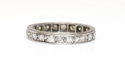 Lot 148 - A platinum diamond set full eternity ring